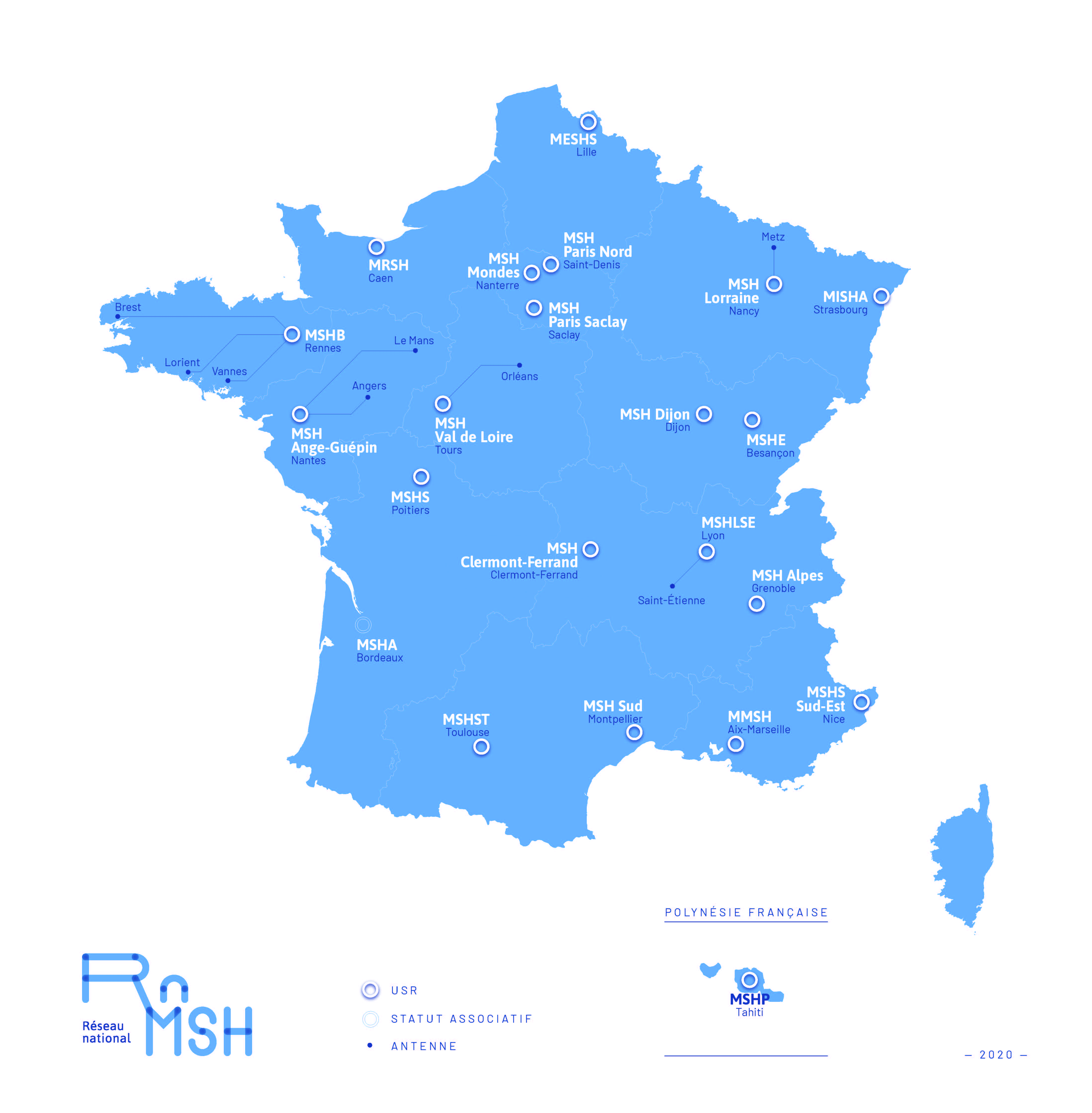 Carte des MSH (RnMSH)
